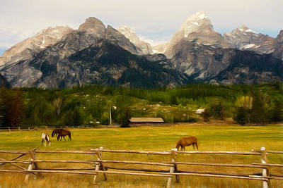 Photograph - Teton Ranch by Lana Trussell