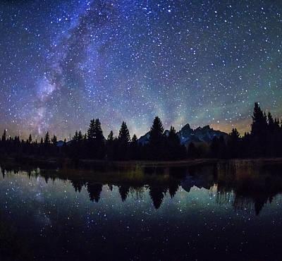 Photograph - Teton Range And Milky Way In Gtnp by Vishwanath Bhat