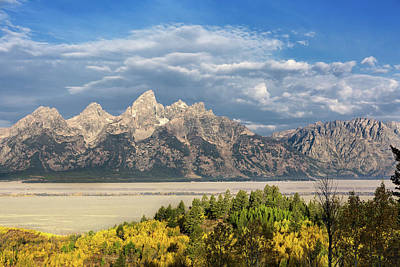Photograph - Teton Range In Autumn by Kathleen Bishop