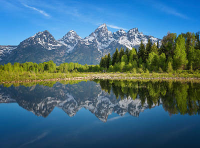 Photograph - Teton Reflection by Darren  White