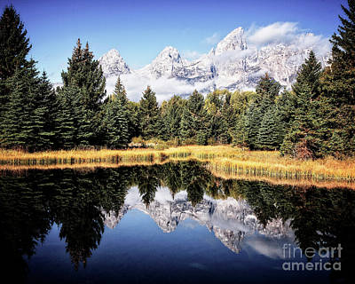 Photograph - Teton Reflection by Scott Kemper