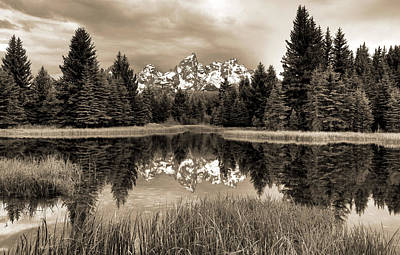 Photograph - Teton Reflections by Dan Sproul