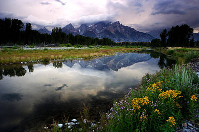 Photograph - Teton Reflections by Eric Foltz