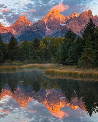 Photograph - Teton Reflections by Joseph Rossbach