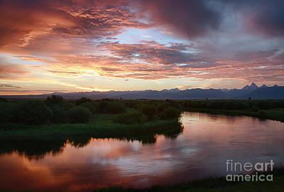 Teton River Reflections Print by Idaho Scenic Images Linda Lantzy