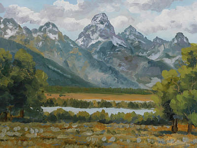 Fall Animals - Teton Spring by Guy Crittenden