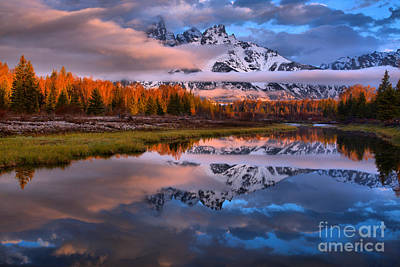 Photograph - Teton Spring Pink And Orange by Adam Jewell