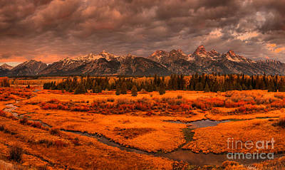 Photograph - Teton Sunrise Storms by Adam Jewell