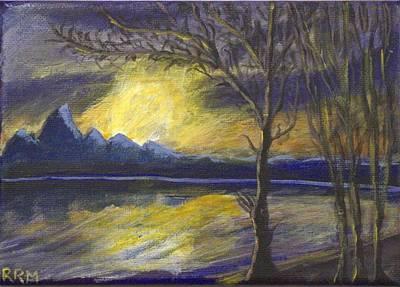 Painting - Teton Sunset by Art By Ryker