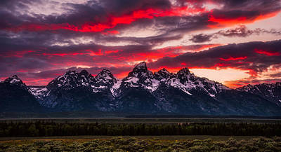Teton Sunset Art Print by Darren White