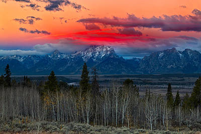 Photograph - Teton Sunset by Kathleen Bishop