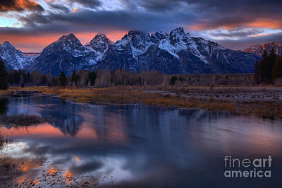 Photograph - Teton Sunset Kickoff by Adam Jewell