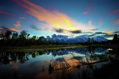 Photograph - Teton Sunset by Norman Hall