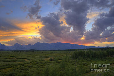 Photograph - Teton Sunset by Scott Wood