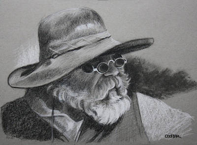 Teton Drawing - Teton Trader by Todd Cooper