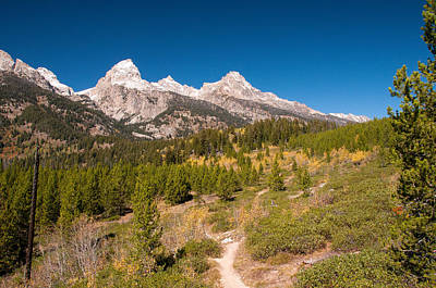 Photograph - Teton Trail by Steve Stuller