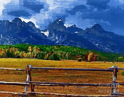 Diane Berry Digital Art - Teton Valley by Diane E Berry