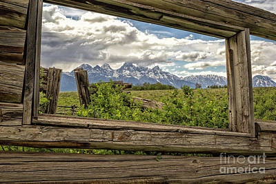 Photograph - Teton View From Shane's Cabin by Sonya Lang