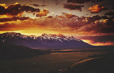 Photograph - Tetons At Dawn by Library Of Congress