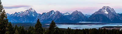 Photograph - Tetons At First Light by TL  Mair