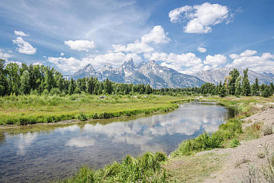 Photograph - Tetons At Schwabacher Landing by Margaret Pitcher