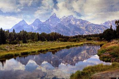 Photograph - Tetons At The Landing 1 by Marty Koch