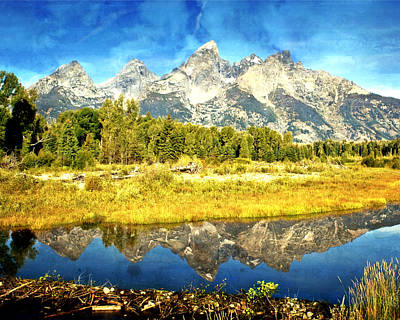 Photograph - Tetons At The Landing by Marty Koch
