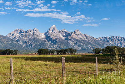 Photograph - Tetons From Mormon Row by Sharon Seaward