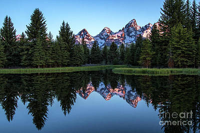 Photograph - Tetons From Scwabacher Landing  by Sonya Lang