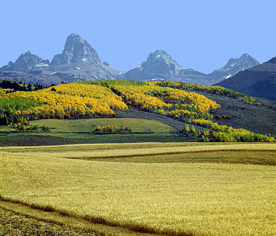 Photograph - 107604-tetons From The Back And Fields  by Ed  Cooper Photography