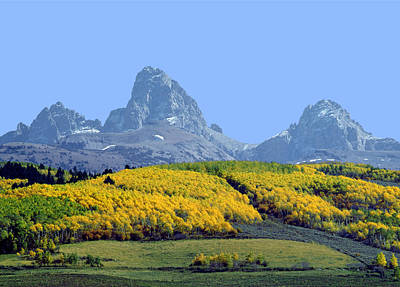 Photograph - 107604-e-tetons From The Back H  by Ed  Cooper Photography