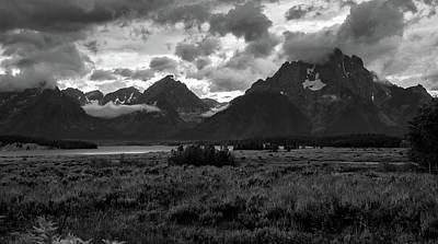 Photograph - Tetons In Black And White by Jennifer Ancker