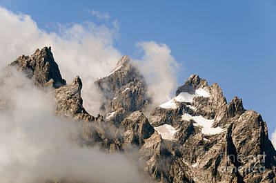 Photograph - Tetons In Clouds II by Sharon Seaward