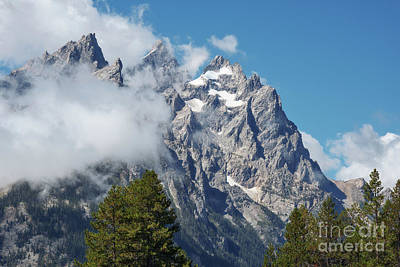 Photograph - Tetons In The Clouds by Sharon Seaward