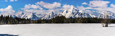 Photograph - Tetons In Winter by TL Mair