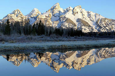 Photograph - Tetons Morn 18 by Jeff Brunton
