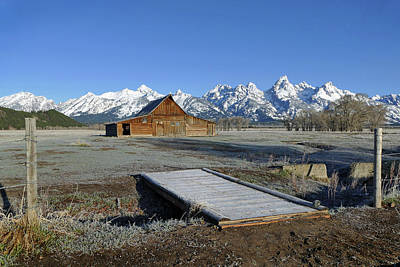 Photograph - Tetons Moulton Barns 16 by Jeff Brunton