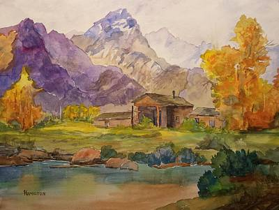 Painting - Tetons Ranch by Larry Hamilton