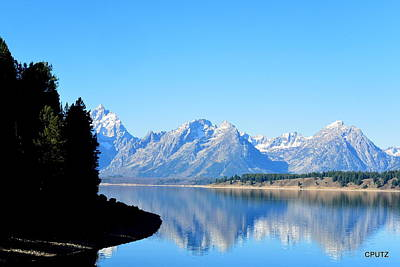 Photograph - Tetons Reflection by Carrie Putz