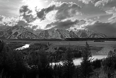 Photograph - Tetons Snake River by Jeff Brunton