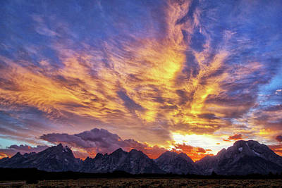 Photograph - Tetons Sunset by Carolyn Derstine