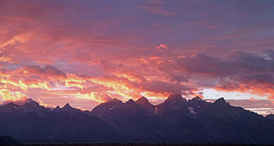 Photograph - Tetons Sunset by Jean Clark