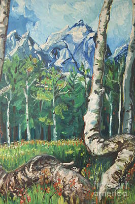 Psychiatry Painting - Tetons by Susan Brown    Slizys art signature name