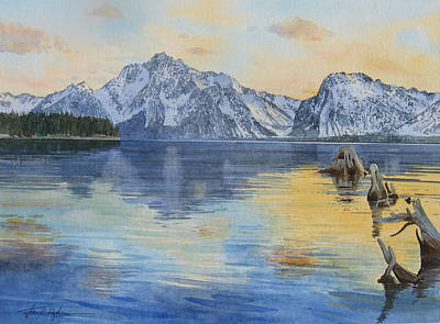 Painting - Tetons by Tyler Ryder