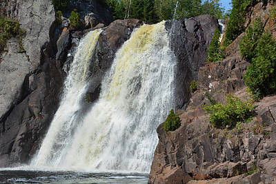Photograph - Tettegouche Falls Lake Superior by Kyle Hanson