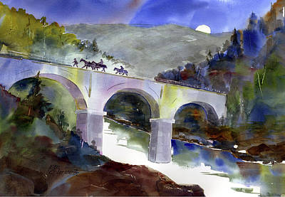 Painting - Tevis Crossing 3am by Joan Chlarson
