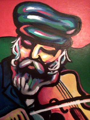 Fiddler On The Roof Painting - Tevye by Stuart Glazer