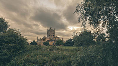 Photograph - Tewkesbury Abbey South View A by Jacek Wojnarowski