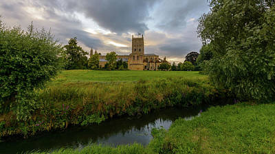 Photograph - Tewkesbury Abbey South View B by Jacek Wojnarowski