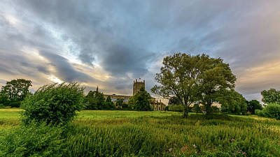 Photograph - Tewkesbury Abbey South View C by Jacek Wojnarowski
